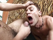Ivan rides cock and gets cumshot